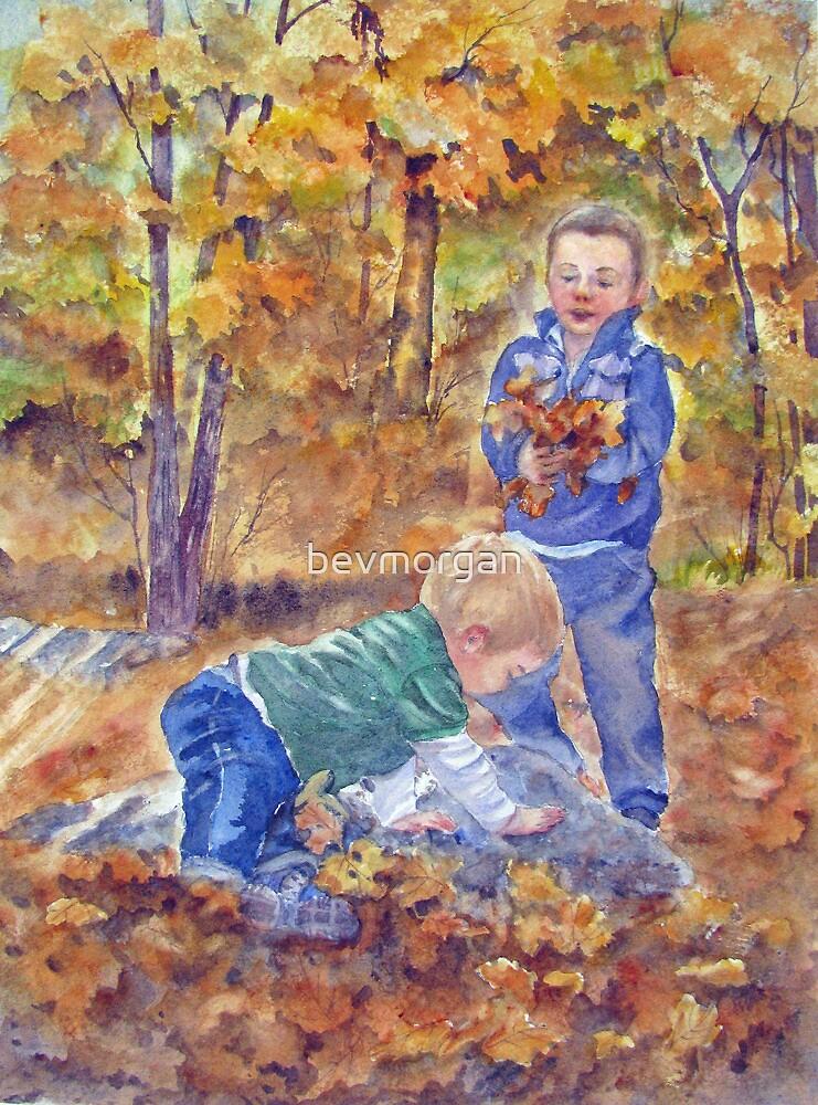 Leaf Gathering by bevmorgan
