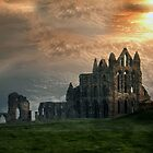 Whitby Abbey Ruins by Irene  Burdell