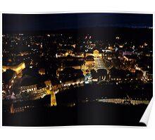 Ljubljana, Slovenia at Night Poster