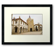 The clock tower in Caminha Framed Print