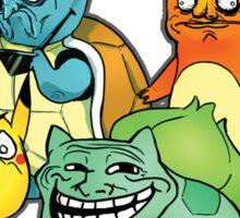 Pokemon Rage Face Starters Sticker