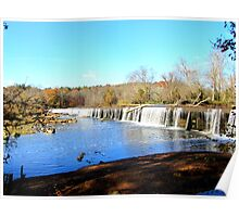 Haw River dam in Autumn Poster