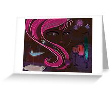 Bar Babe Greeting Card