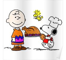 Charlie and Snoopy Thanksgiving Poster