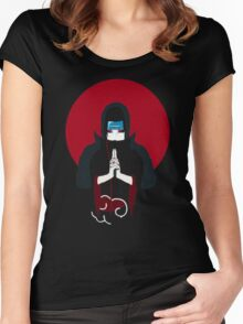 Itachi Tiger Hand Sign Women's Fitted Scoop T-Shirt
