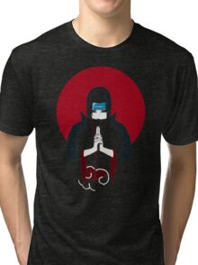 Itachi Tiger Hand Sign Tri-blend T-Shirt