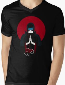Itachi Tiger Hand Sign Mens V-Neck T-Shirt