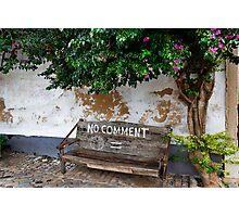 No Comment Photographic Print