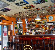 Cafe bar interior, Toulouse by magicaltrails