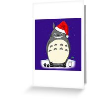 Totoro Christmas Santa Style Greeting Card