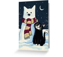 Snow Cat Greeting Card