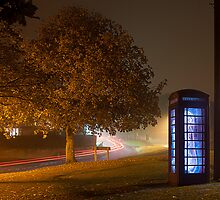 Glowing Phone Box by ChrisGothorp