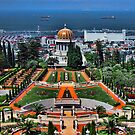 the bahai garden at Haifa  by Ronsho