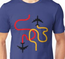 planes red Unisex T-Shirt