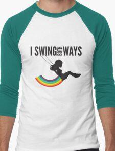 I Swing Both Ways Men's Baseball ¾ T-Shirt