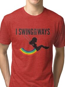 I Swing Both Ways Tri-blend T-Shirt