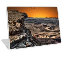 Ramon Crater, peak of Mount Negev in Israel Laptop Skin
