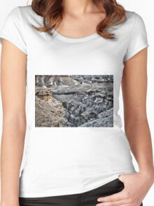 Negev Desert Landscape  Women's Fitted Scoop T-Shirt