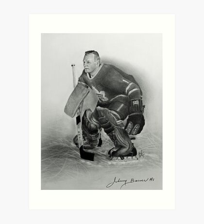 Johnny Bower Art Print