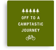 Camping: Off to a Camptastic Journey Canvas Print