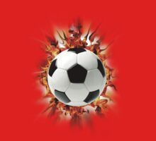 Flaming Soccer Ball - Shirt by Christopher Herrfurth