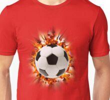 Flaming Soccer Ball - Shirt Unisex T-Shirt
