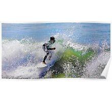 Crystallized Surfer Poster
