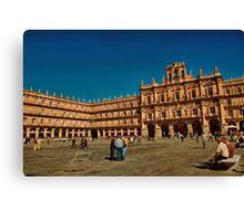 Spain. Salamanca. Plaza Mayor. Canvas Print