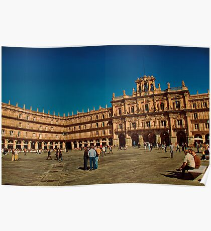 Spain. Salamanca. Plaza Mayor. Poster