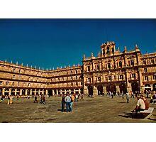 Spain. Salamanca. Plaza Mayor. Photographic Print