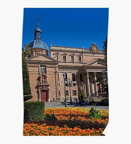 Spain. Salamanca. Church & University. Poster