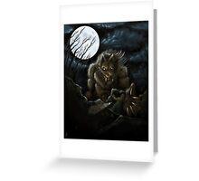 Big Ol' Wolf Greeting Card