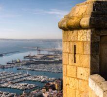 A view over the port at Alicante Sticker