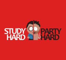 South Park study hard party hard student design by monstamorph