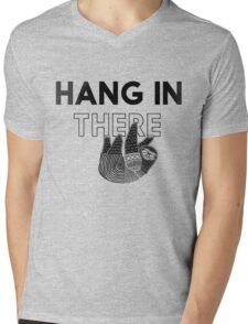 Hang In There- black print Mens V-Neck T-Shirt