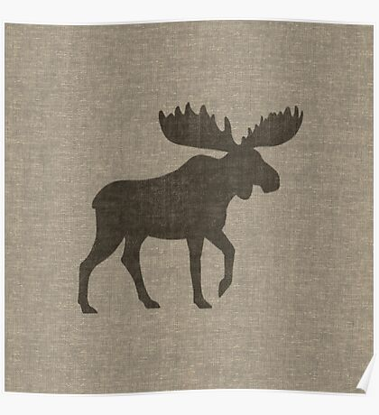 Moose Silhouette(s) Poster
