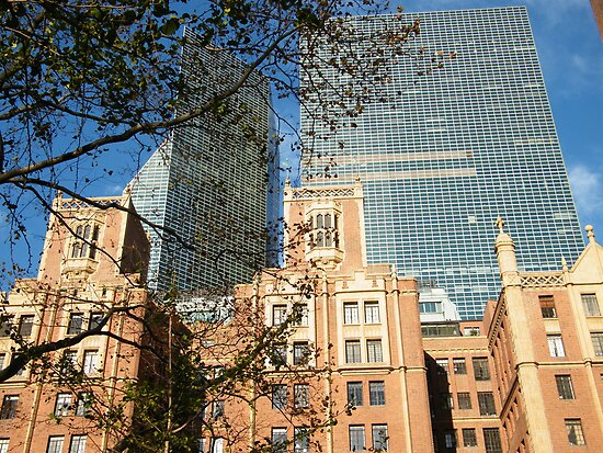 Classic and Modern Architecture, Tudor City, New York   by lenspiro