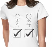 Show Your Pride - Tick Box Both Vote Womens Fitted T-Shirt