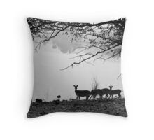 Deer River Throw Pillows Throw Pillow