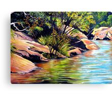 Jellybean Pool, Blue Mountains Canvas Print