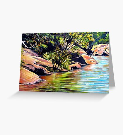 Jellybean Pool, Blue Mountains Greeting Card