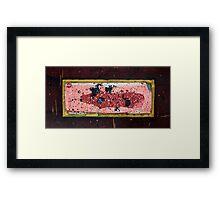 Austral Brick Landscape. Framed Print