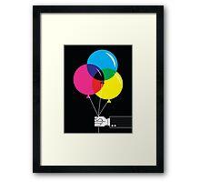 CMYK Balloons Framed Print