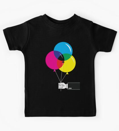 CMYK Balloons Kids Tee