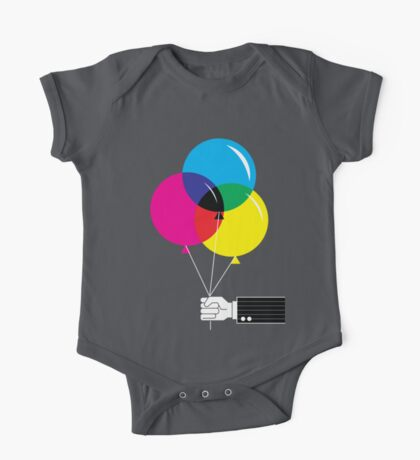 CMYK Balloons One Piece - Short Sleeve