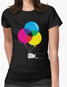 CMYK Balloons Womens Fitted T-Shirt