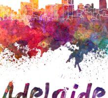 Adelaide skyline in watercolor Sticker