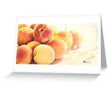 Canning Peaches Greeting Card