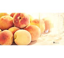 Canning Peaches Photographic Print