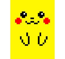 Pikachu Face 8bit Photographic Print